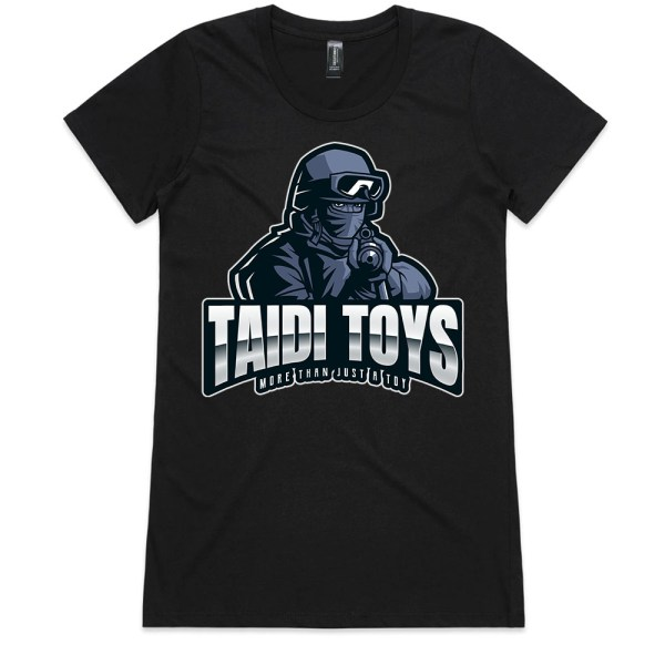 TAIDI More Than Just a Toy SOLDIER Ladies Black T Shirts