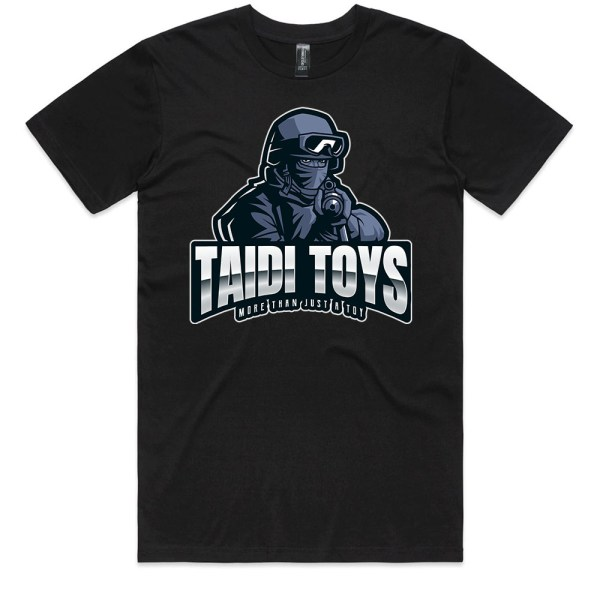 TAIDI More Than Just a Toy SOLDIER Men Black T Shirts
