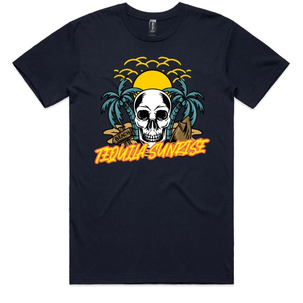 Tequila Sunrise Men Navy T Shirts
