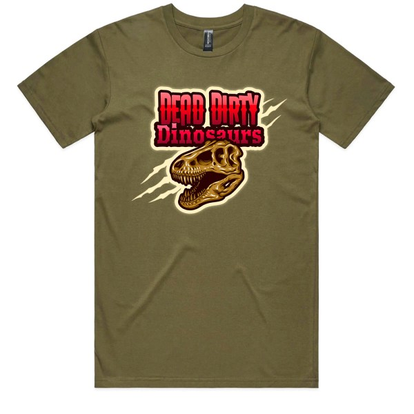 Dead Dirty Dinosaurs 008 Men Army T Shirts