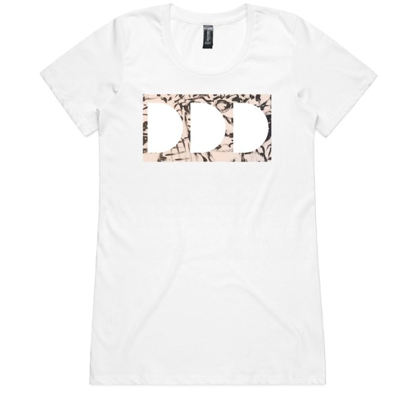 Dead Dirty Dinosaurs 009 Ladies White T Shirts