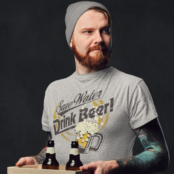 Drink Beer Save Water Men T Shirts