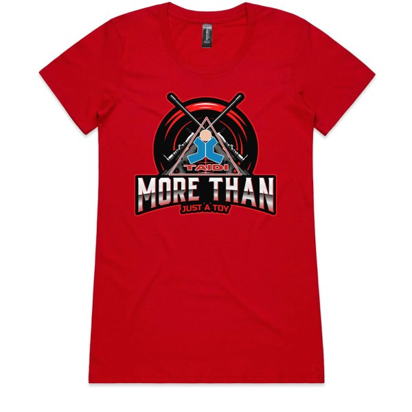 TAIDI More Than Just a Toy Crest Ladies Red T Shirts