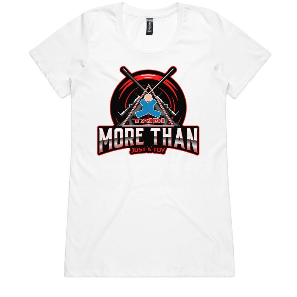 TAIDI More Than Just a Toy Crest Ladies White T Shirts