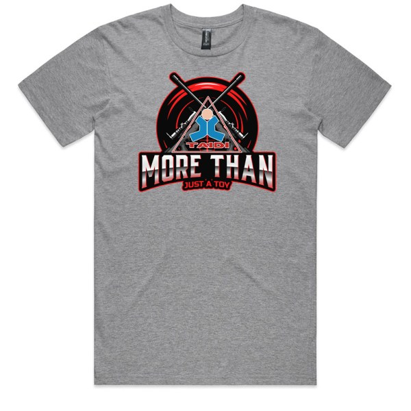 TAIDI More Than Just a Toy Crest Men Grey T Shirts