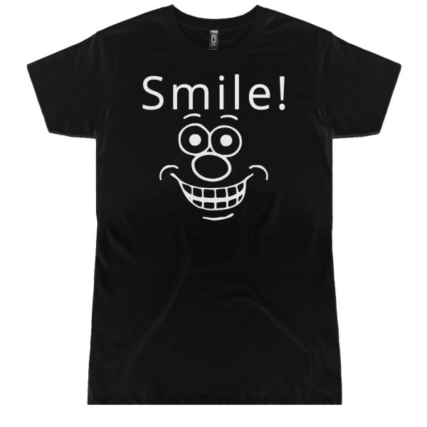 Smile Funny Face Ladies T Shirts