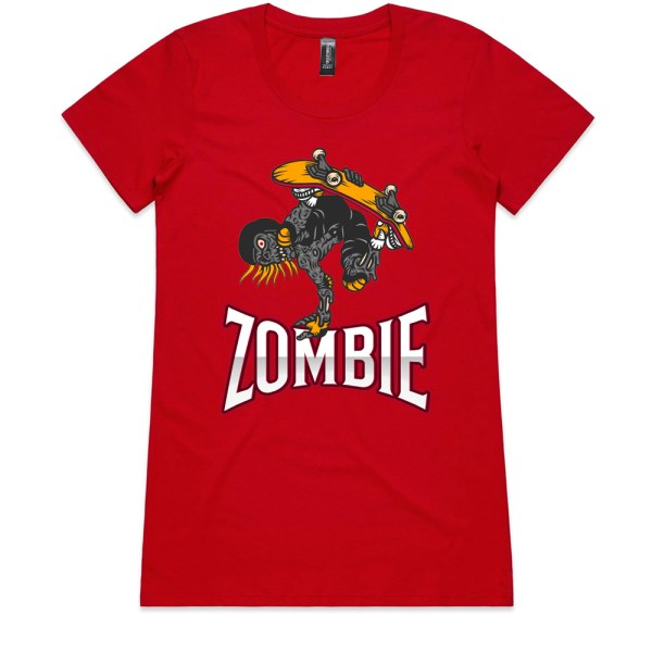 Zombie Ladies Red T Shirts