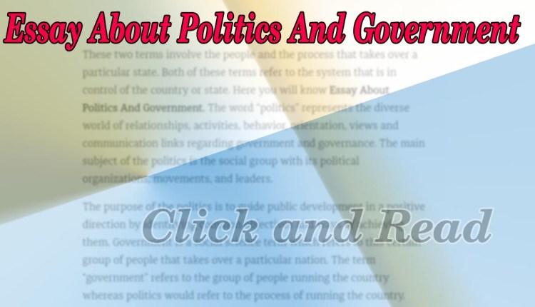 Government and politics essay