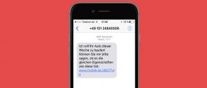 mobile.de SMS Phishing Betrug