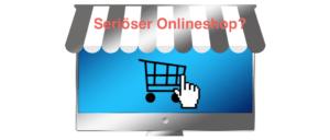 Symbolbild Onlineshop vs. Fakeshop