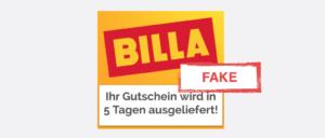 WhatsApp Kettebrief Billa Gutschein 250 Euro