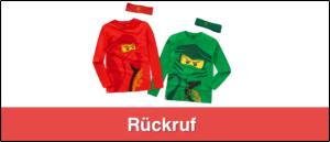 Rückruf Ernsting's Family Lego Shirts