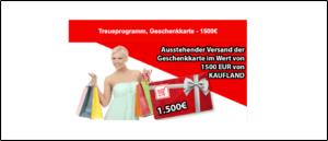2019-09-09 Kaufland Spam-Mail 1500 Euro Geschenkkarte