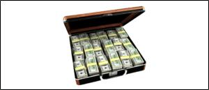 Symbolbild Geld Geldkoffer