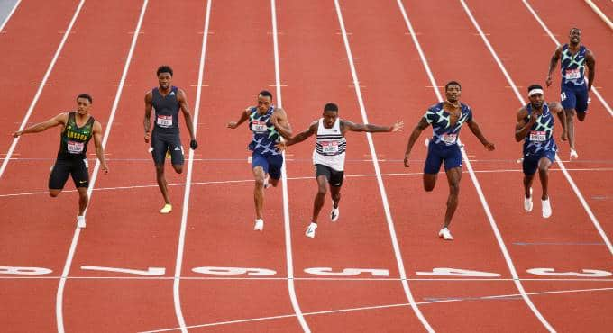 Olympische Spelen 2021 Atletiek 100 Meter