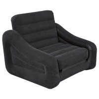 Intex Pull-out Chair and Airbed in Black - Only-Airbeds.co.uk