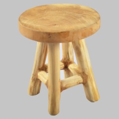 Round Chair On Stand Chicco Polly Se High Deco Stool Wooden Sitting Plant Natural Solid