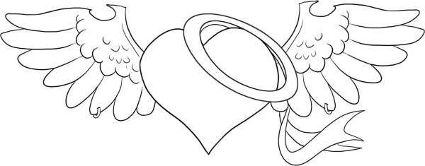 20 Awesome Coloring Pages Hearts Wings Ideas And Designs