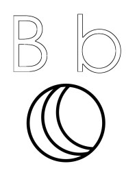 letter b coloring pages | Only Coloring Pages