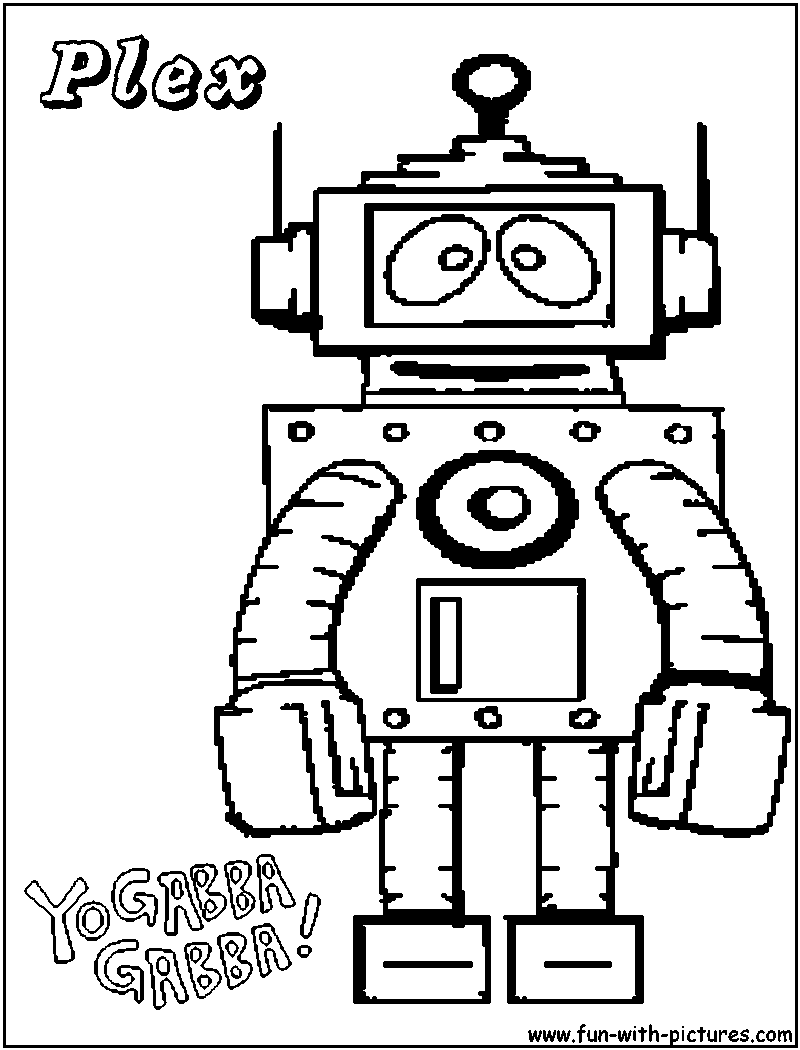 Yo Gabba Gabba Brobee Coloring Pages Blaze And The Monster