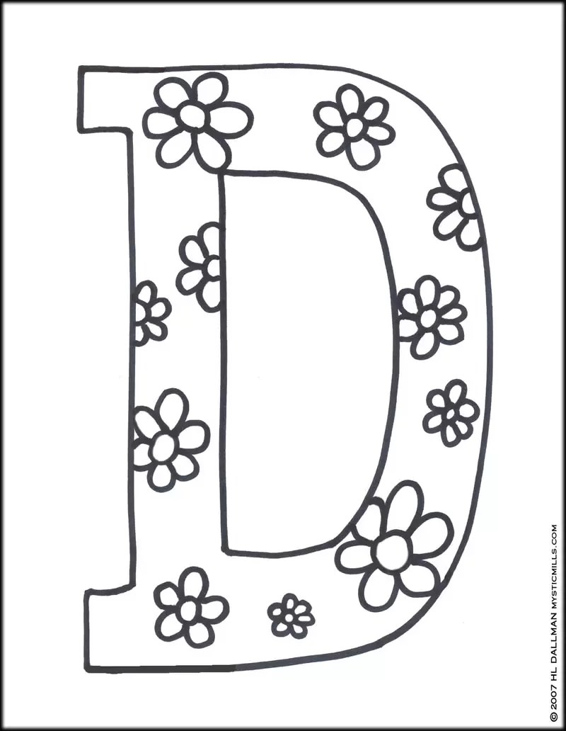 Geography Blog: Letter D Coloring Pages