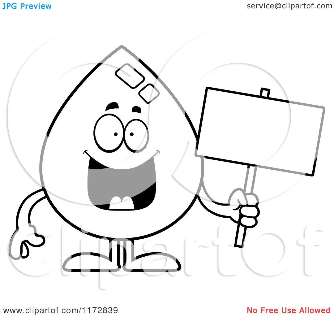 Free coloring pages of wally water droplet