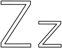 letter z coloring pages | Only Coloring Pages
