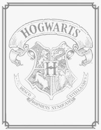 Free coloring pages of symbol hogwarts