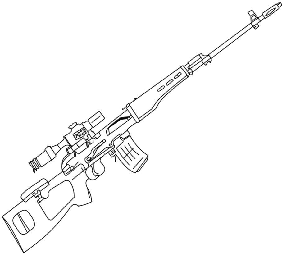 Sniper Nerf Gun Coloring Pages Sketch Coloring Page