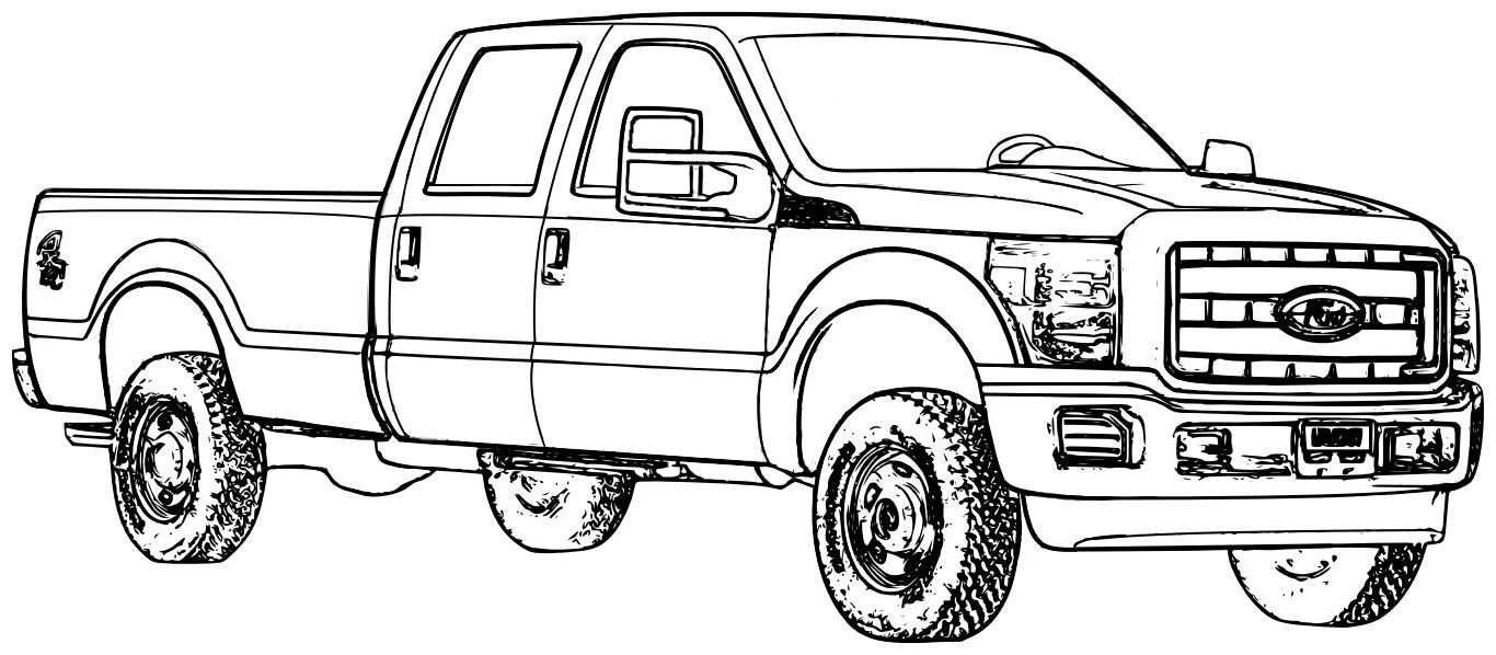 2017 Ford F 150 Raptor Coloring Page Free Printable