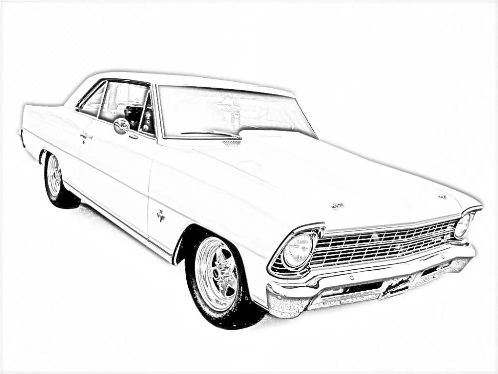Free 1971 chevy coloring pages