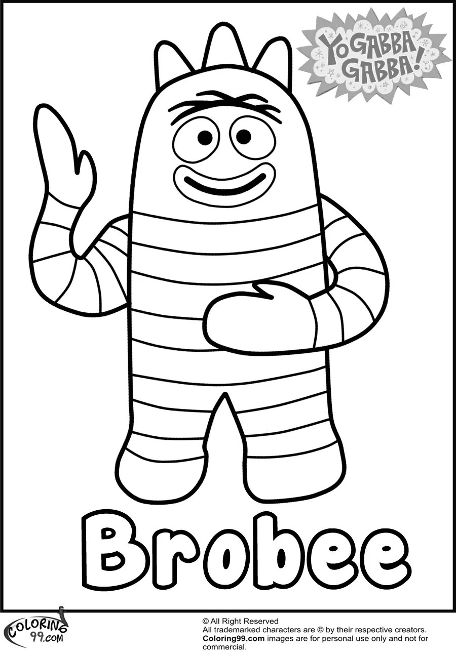 Yo Gabba Gabba Coloring Pages Only Coloring Pages