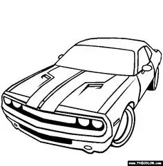 dodge challenger coloring page