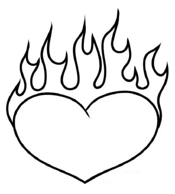 flames coloring pages # 34