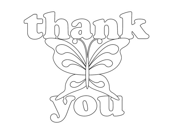 thank you coloring pages  free printable online thank you