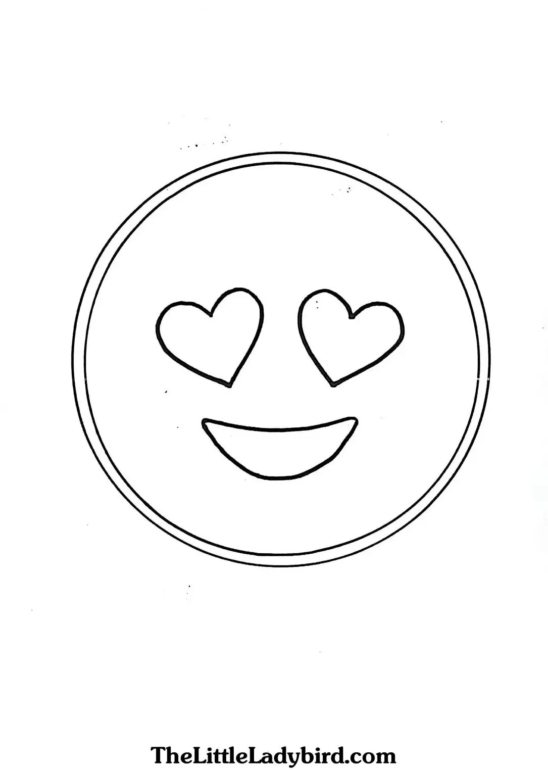 Emoji Coloring Pages In Love