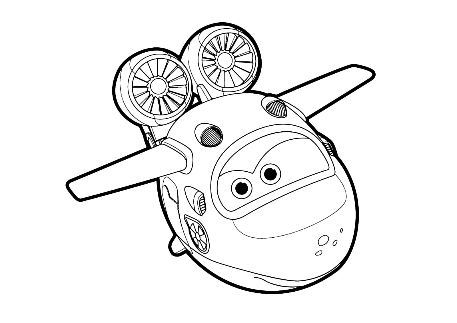 Super Wings Dizzy Coloring Pages