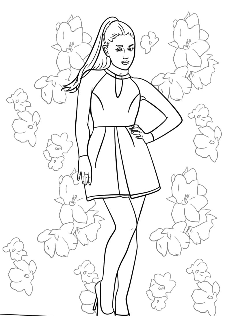 11 Awesome Ariana Grande Coloring Pages