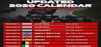 Ανακοινώθηκαν οι πρώτοι 8 αγώνες στην Ευρώπη για την F1