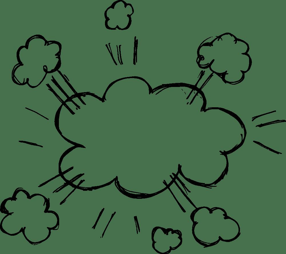 Hand Drawn Comic Speech Bubble Explosion Vector (EPS, SVG