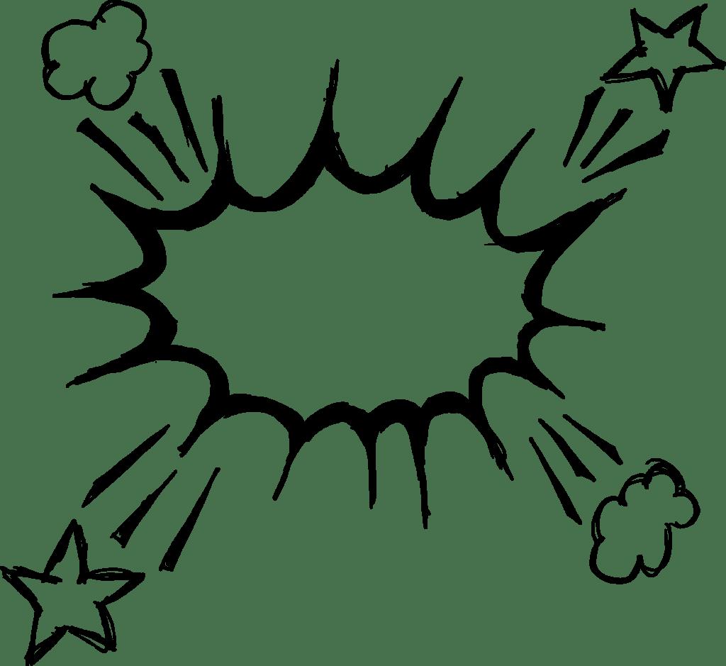 Hand Drawn Comic Speech Bubble Explosion (PNG Transparent