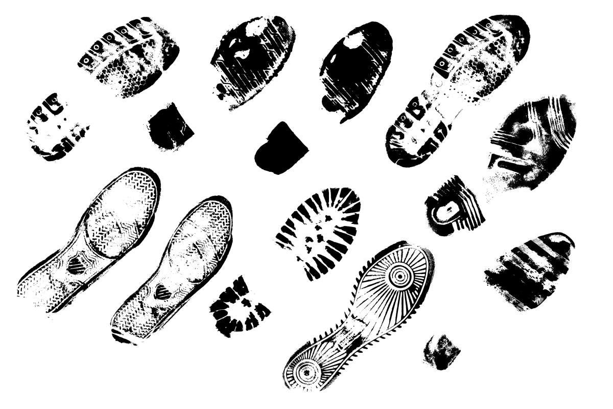10 Shoe Footprints Transparent