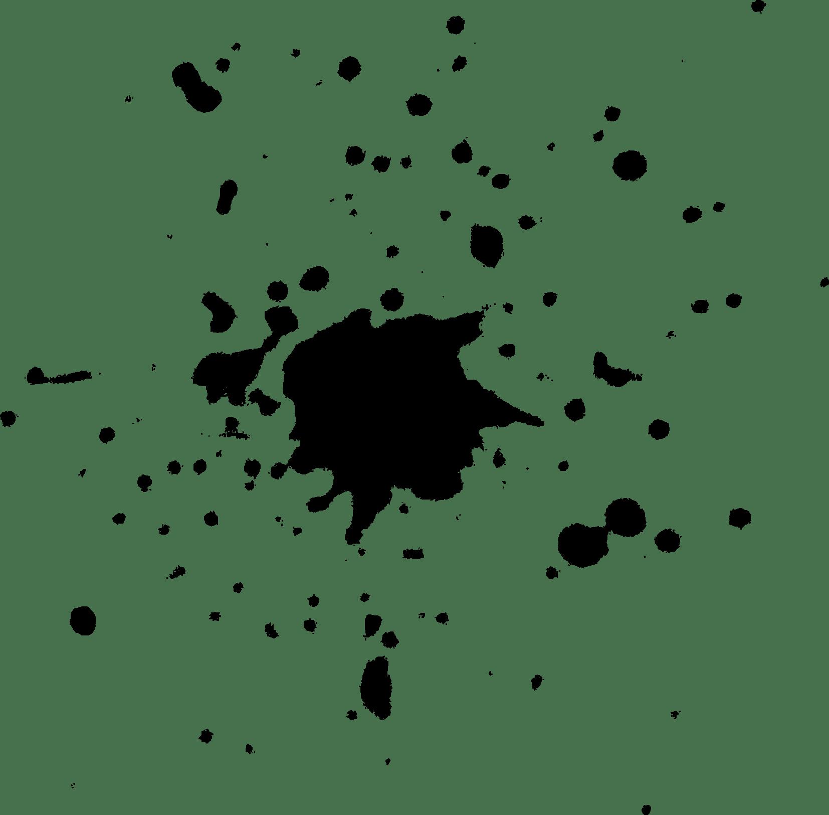 19 Black Paint Splatters Transparent Vol 2
