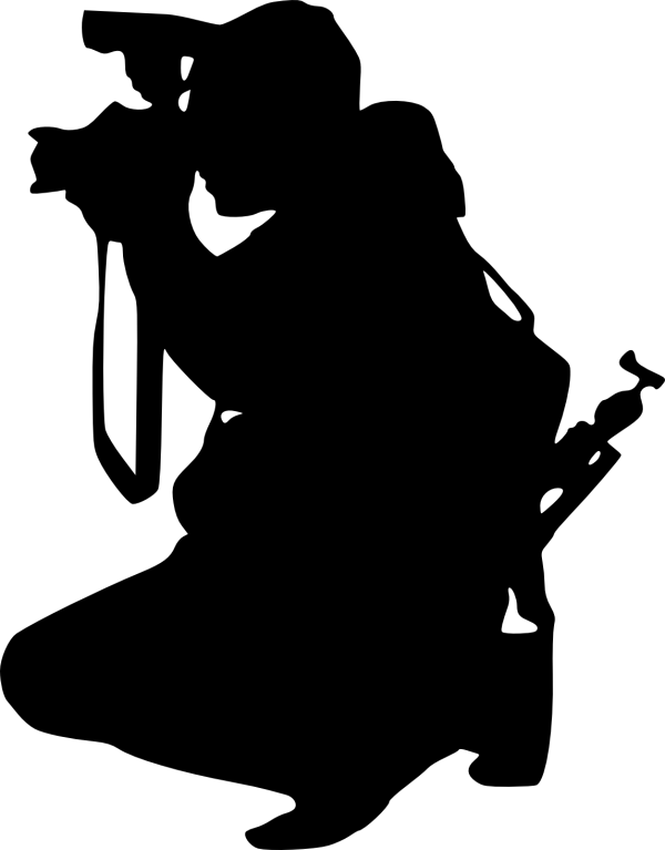 Photographer with Camera Silhouette