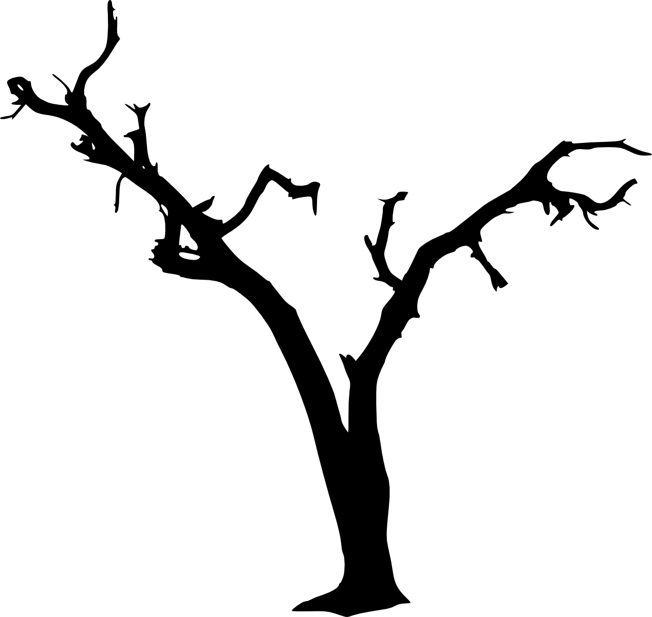 10 Spooky Dead Tree Silhouette Transparent Vol 2
