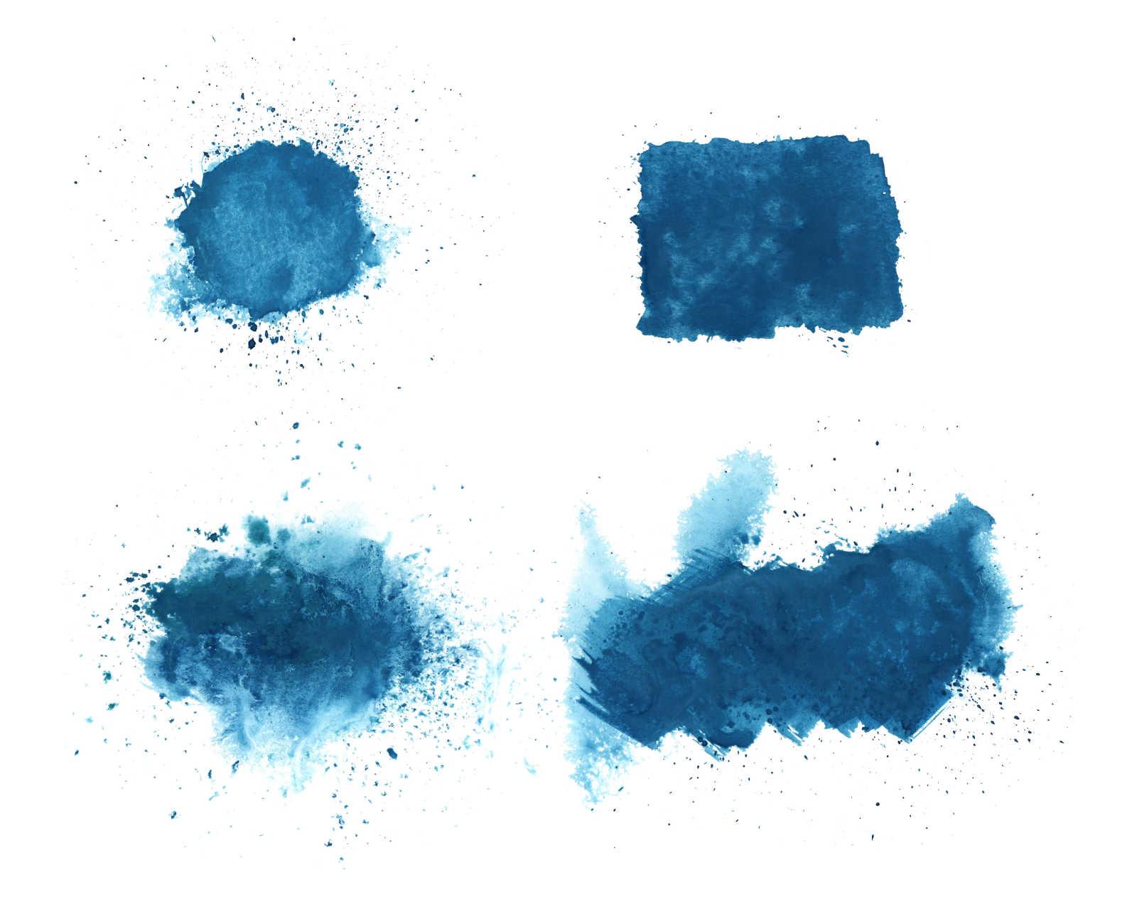 4 dark blue watercolor