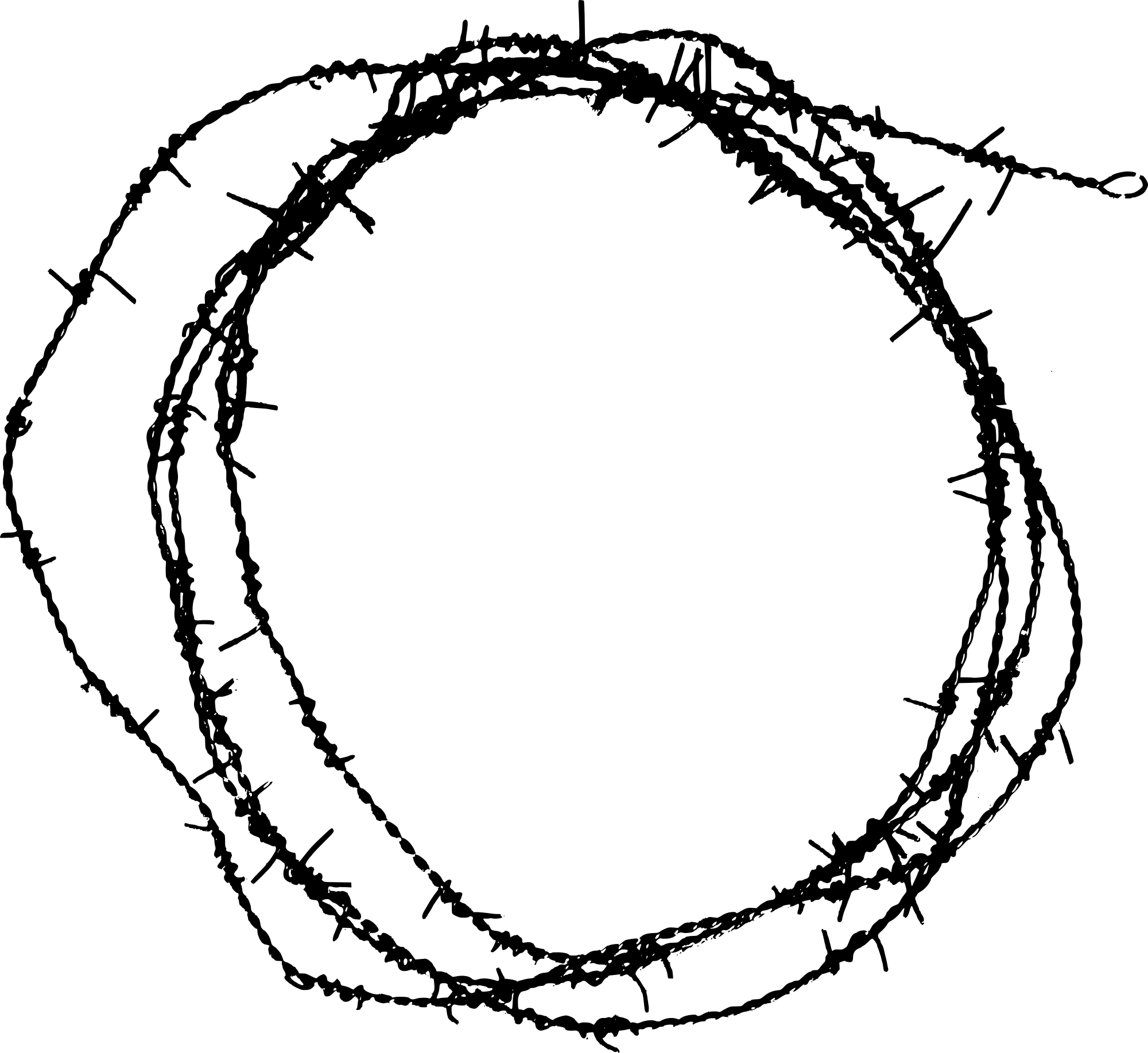 7 Circle Barbed Wire Frame Transparent