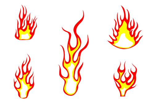 small resolution of 5 fire flame clipart png transparent