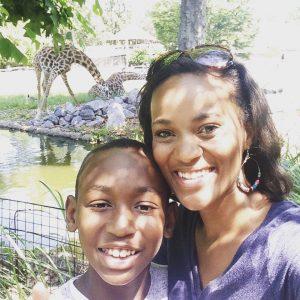 Josiah and i at the zoo