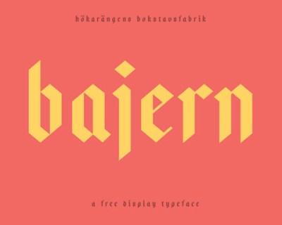 Bajern-free-fonts